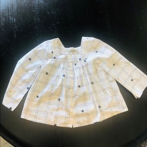 Madewell NWOT White Button Blouse w Embroidery S